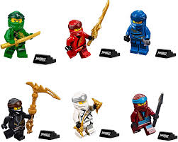 Amazon.com: LEGO Ninjago Legacy Minifigure Combo Pack - Lloyd, Jay, Kai,  Cole, Zane, NYA (with Weapons and Display Stand): Toys & Games