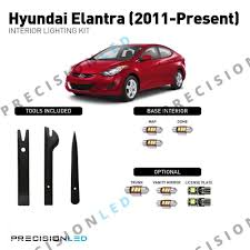 2013 Hyundai Elantra Bulb Chart Hyundai Elantra Gt Premium Led Interior Package 2012 Present