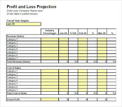 Free Printable Profit And Loss Statement Form Profit Loss Statement Template Free Blank Simple And For Self