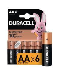 Щелочная <b>батарейка AA</b>/LR6 6 шт DURACELL 6432458 в ...