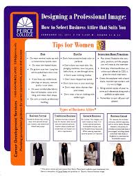 dress for success tips for men and women peirce connections tips for women
