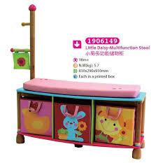 Children Coat Rack China Wooden Multifunction Storage Stool Storage Box with Coatrack 53