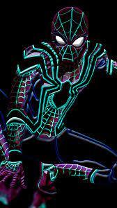 Spider-Man Wallpaper 4K, Neon art ...