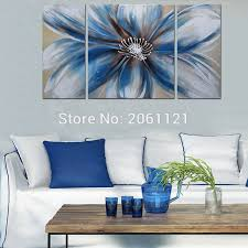 modern 100 hand painted artwork abstract floral oil paintings white blue flowers canvas wall art on white floral canvas wall art with modern 100 hand painted artwork abstract floral oil paintings white