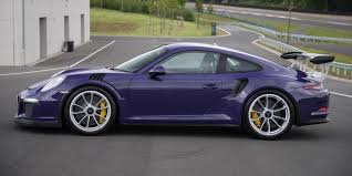 porsche 2015 gt3 rs. static side profile of an ultra violet 2016 porsche 911 gt3 rs 2015 gt3 rs