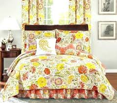 queen cal king bed orange yellow fl paisley 6 quilt set coverlet bedding quilting fabric