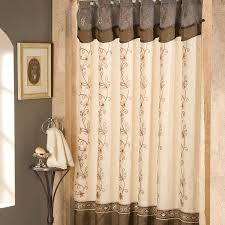 ... Good Looking Ideas For Designer Shower Curtains With Valance In  Bathroom Interior : Beautiful Cream And ...