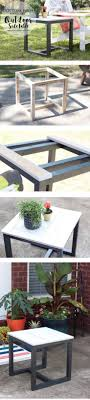 DIY Outdoor Side Table | Pottery Barn Knockoff #cheapmodernfurniture