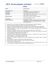 Sudhir Hadoop And Data Warehousing Resume Enchanting Data Warehouse Resume