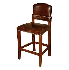 gibbons rustic lodge cigar top grain leather counter stool kathy kuo home
