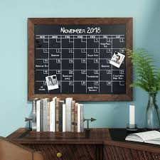 magnetic chalkboard calendar framed monthly wall mounted large