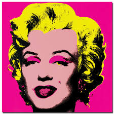 hot pop art collage paintings cuadros unframed real hot marilyn monroe andy warhol painting