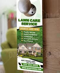 Lawn Care Door Hanger Design Template Lawncare Landscaping