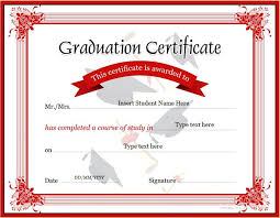 Graduation Templates Word Graduation Certificate Templates For Ms Word Professional