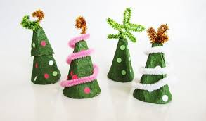 Recycled Egg Carton Christmas Tree Craft For Kids  Crafty MorningChristmas Crafts With Egg Cartons