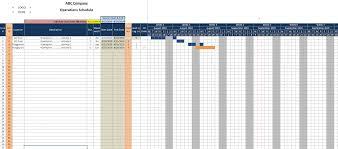 Detailed Gantt Chart Tied Activities Gantt Chart Schedule