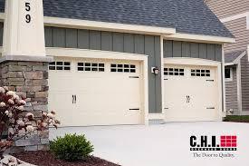 almond garage doorGarage Door  52XX with Stockton Windows Almond  Door Doctor