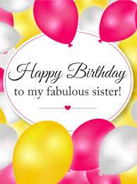 Birthday On Day Card Enjoy Your Special Day Sis Happy Birthday Card Birthday