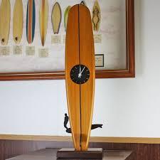 wooden long board table clock art clock long board clb50959 surfboard type clock gift fs3gm