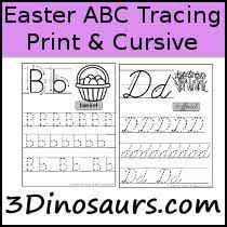 abc tracing sheet 3 dinosaurs abc printables
