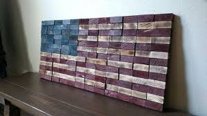 american flag 2x4 end grain wood