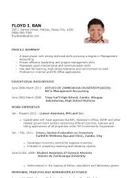 Sample Resume For Fresh Graduate Elementary Teachers In The