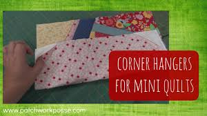 How to add corner hangers to the back of mini quilts - YouTube & How to add corner hangers to the back of mini quilts Adamdwight.com