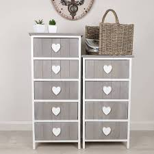 nautical heart chalk grey chest of drawers by dibor