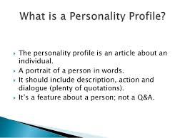 How To Write A Profile Eng2120 How To Write A Profile