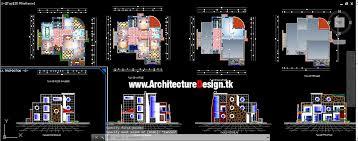 modern houses design dwg format 04
