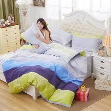 4pcs polyester cotton bedding set queen classic plaid duvet cover sets bed sheets s kids bedroom