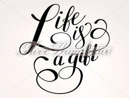Das Leben Ist Ein Geschenk Wandtattoo Spruch Englisch I Love