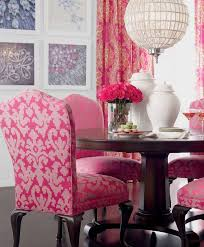 gorgeous pink dining room