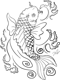 Small Picture Koi Fish Art coloring page Free Printable Coloring Pages