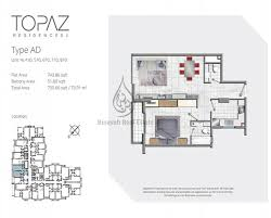... Topaz Premium Residences 1 Bedroom Apartment Type AD Floor ...