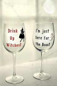 these wine glasses are perfect to trick or treat with made with a cricut and