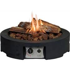 round gas firepit table top