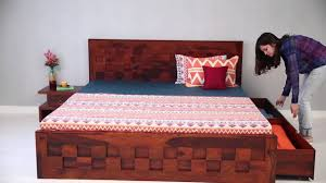 wooden furniture box beds. Double Bed - Travis With Storage Online In India @ Wooden Street YouTube Furniture Box Beds
