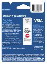 walmart visa gift card register photo 1