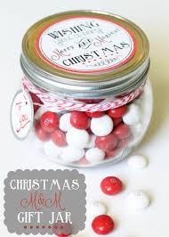 Christmas M&M Gift Jar