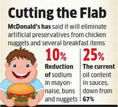 Mcdonalds Health Chart Mcdonalds Goes On A Healthy Diet Reduces Sodium In Its