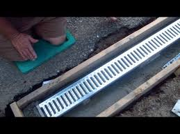 install a trench drain 1 of 7
