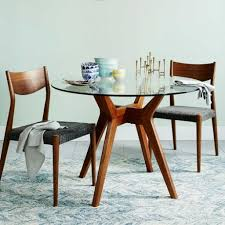 jensen round glass dining table west elm round glass kitchen table