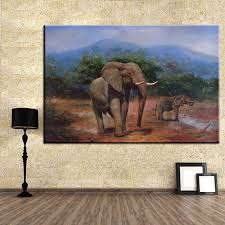 Small Picture Aliexpresscom Buy DP ARTISAN NO FRAME elephant BIG AND SMALL