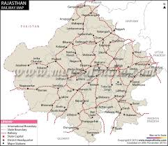 Indian Railway Route Chart Rajasthan Rail Network Map