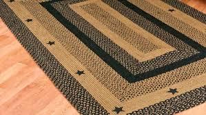 primitive area rugs black star country primitive jute braided area rug casual home decor primitive area