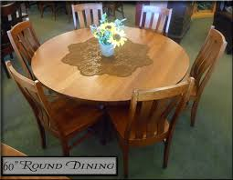amish 60 round dining table