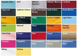 Port Authority Color Chart Port Authority Adult Youth T Shirts