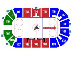 1st Niagara Center Seating Chart Seating Map Niagara Icedogs