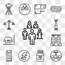 Set Of 13 Transparent Editable Icons Such As Interracial Peanut